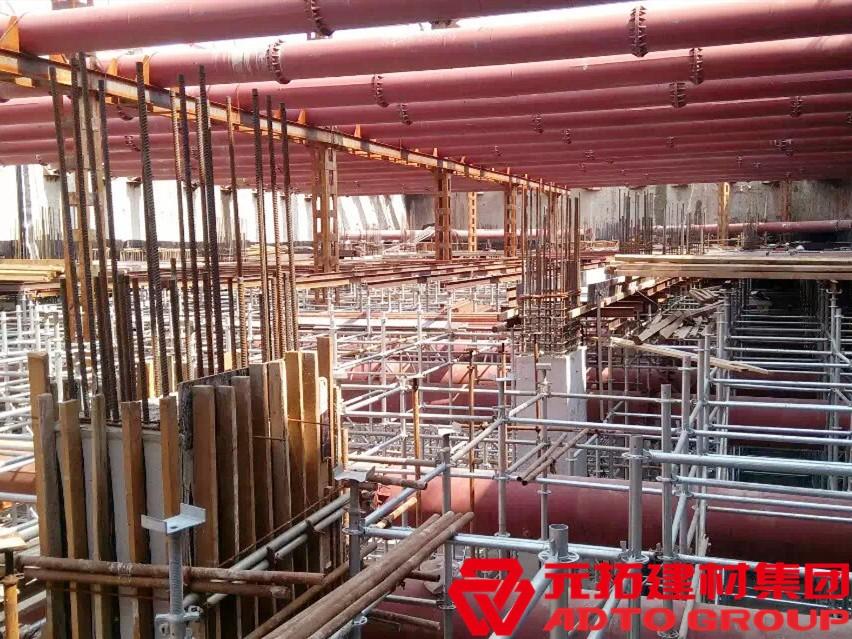 天津地铁6号线项目使用元拓盘扣脚手架