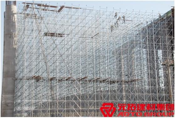 中交三公司项目使用元拓脚手架